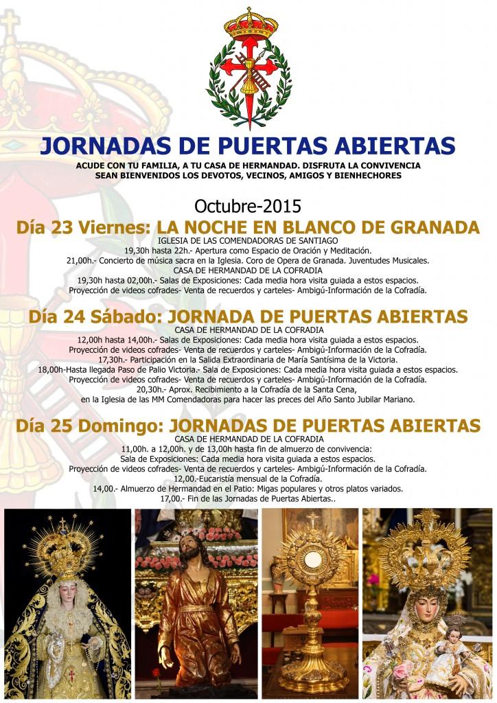 JORNADAS DE PUERTAS ABIERTAS EN LA COFRADIA-2015