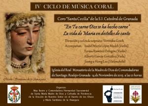 CORONACION CANONICA- IV CICLO CANTO -cartel concierto 14 de NOV.